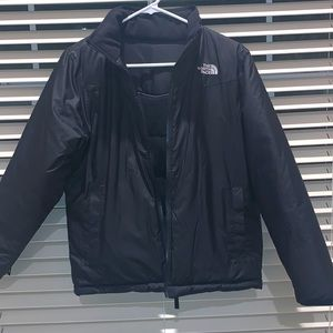 North face reversible jacket.
